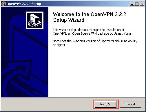 OpenVPN - Windows XP - Step 3