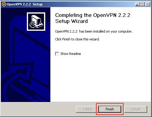 OpenVPN - Windows XP - Step 8
